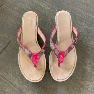 Coach wedge sandals 7.5